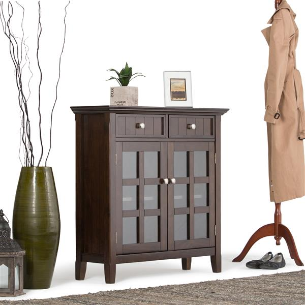 Simpli Home Acadian Tobacco Brown Storage Cabinet