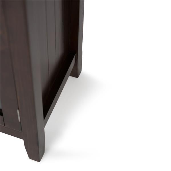 "Grande armoire de rangement Acadian, 62""x18""x34"", brun tabac"
