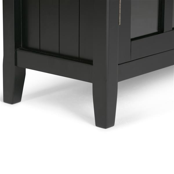 Simpli Home Acadian Black Medium Storage Cabinet