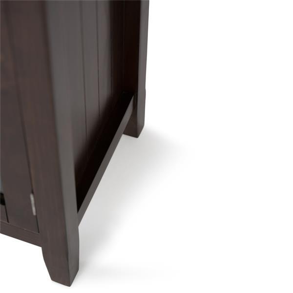 Simpli Home Acadian Tobacco Brown Medium Storage Cabinet