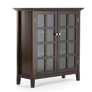 Acadian Medium Storage Cabinet - Tobacco Brown