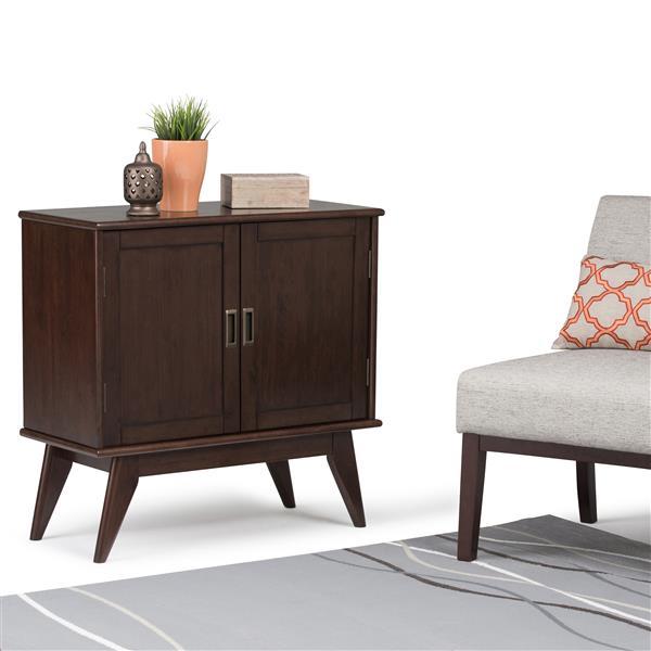 Petite armoire de rangement d'époque Draper, brun châtain