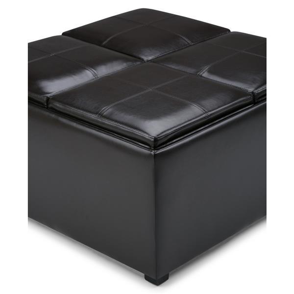 Table de rangement à 4 plateaux Avalon, brun cuir