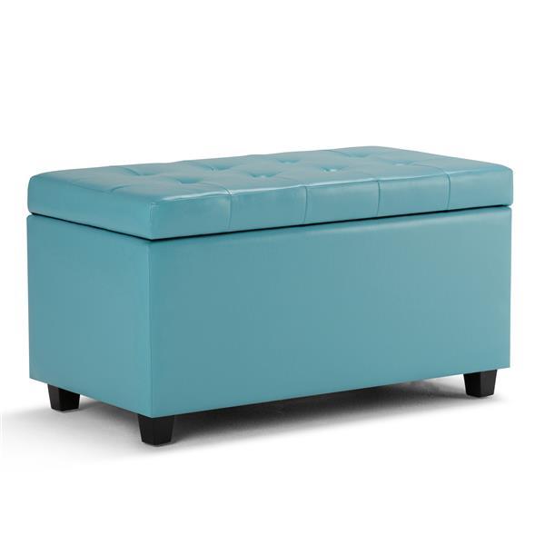 Banc de rangement rectangulaire Cosmopolitan, bleu pâle