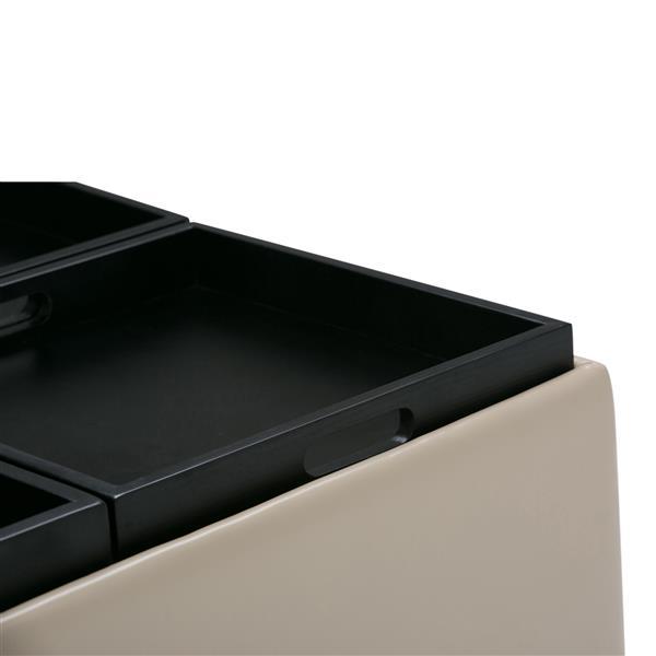 Table de rangement à 4 plateaux Avalon, crème satiné