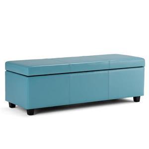 Banc de rangement rectangulaire Avalon, bleu