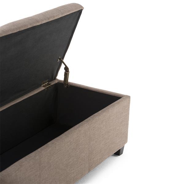 Banc de rangement rectangulaire Avalon, brun clair