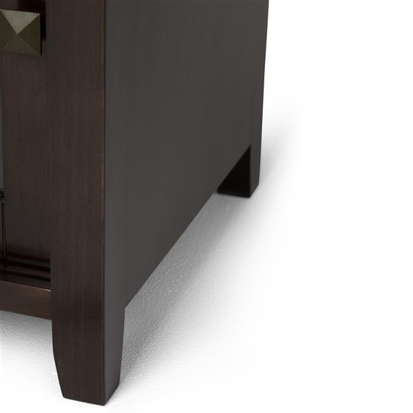 Simpli Home Cosmopolitan Coffee Brown TV Media Stand