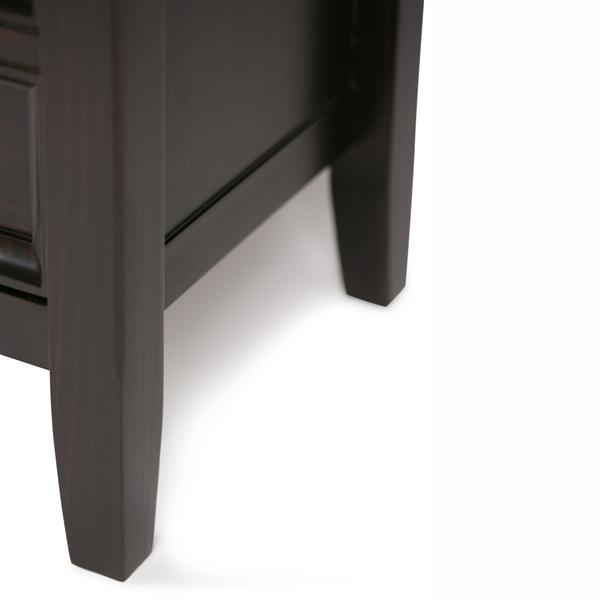Simpli Home Amherst Dark Brown TV Media Stand