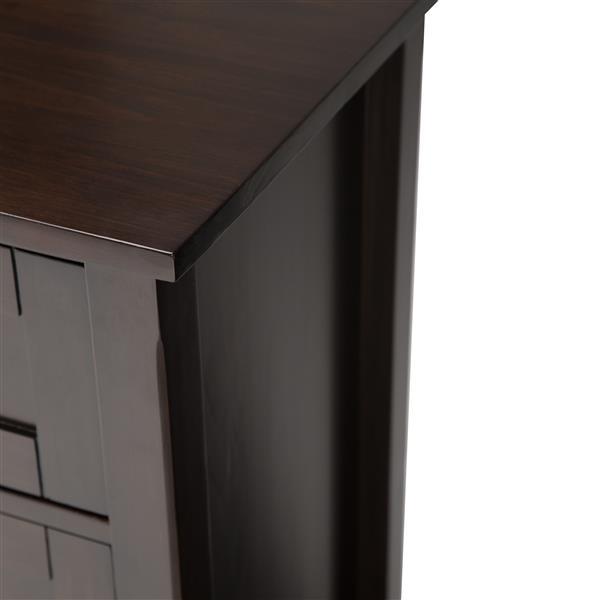 Grand meuble pour téléviseur Sidney, 54po, marron