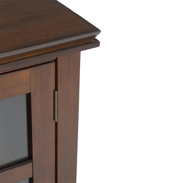 Simpli Home Artisan Auburn Brown Tall TV Media Stand