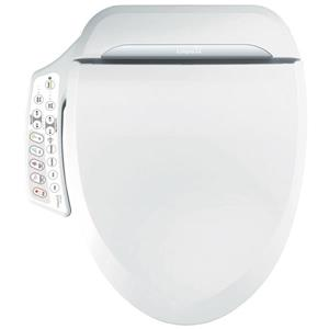 Clean Touch Electronic Bidet Toilet Seat - Round - White