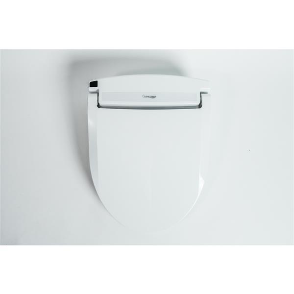 Clean Touch White Round Electronic Bidet Toilet Seat