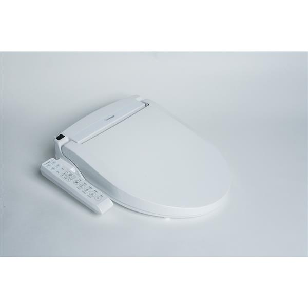 Clean Touch White Elongated Electronic  Bidet Toilet Seat