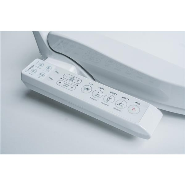Clean Touch White Round Electronic Bidet Toilet Seat