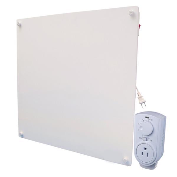 Panneau mural chauffant avec thermostat, céramique, 400 W