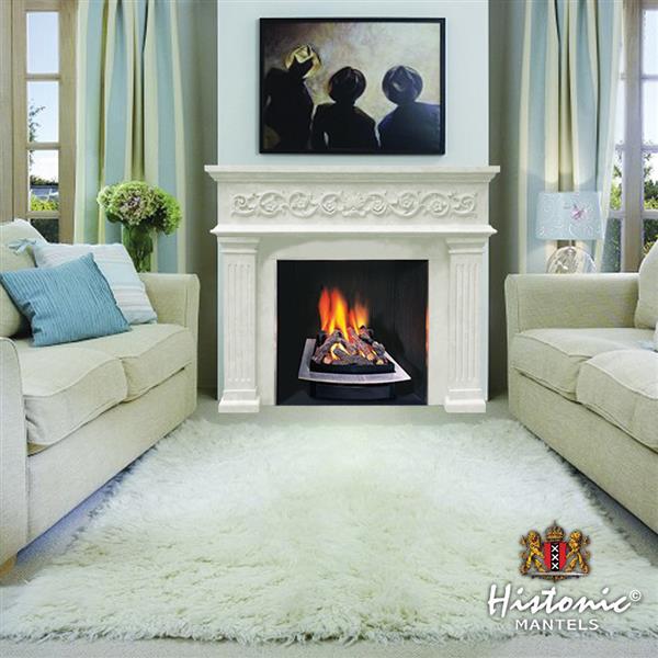 Manteau de cheminée Michael Angelo, ivoire