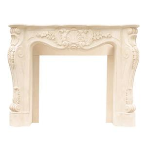 Historic Mantels Limited Louis Fireplace Mantel Ivory