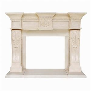 President Oxford Fireplace Mantel - Ivory