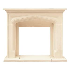 Chateau Pisa Fireplace Mantel - Ivory