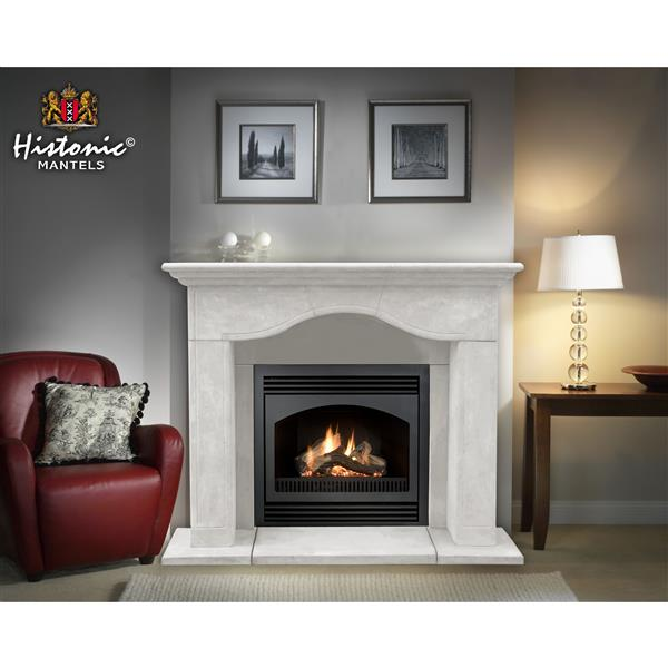 Historic Mantels Limited Chateau Marissa Fireplace Mantel Ivory