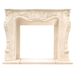 Historic Mantels Limited Chateau Louis Fireplace Mantel Ivory