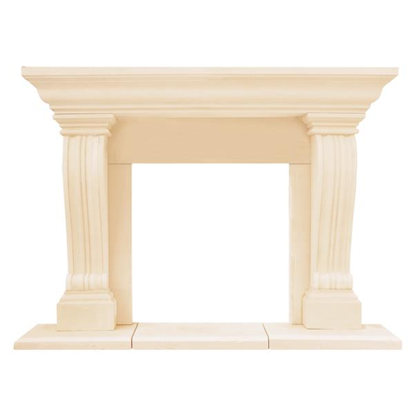 Historic Mantels Limited Chateau Jordana Fireplace Mantel Ivory