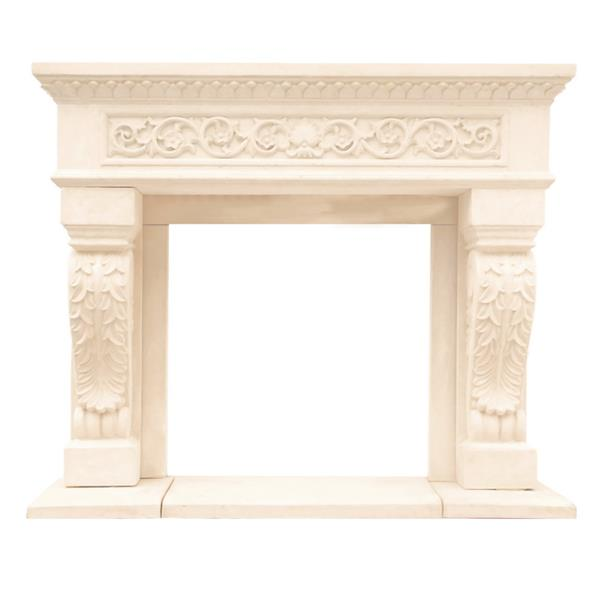 Historic Mantels Limited Chateau King Henry Fireplace Mantel Ivory