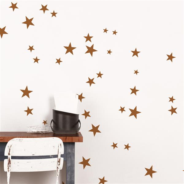 ADzif Copper Stars 3- in x 3- in Peel and Stick Wall Decal