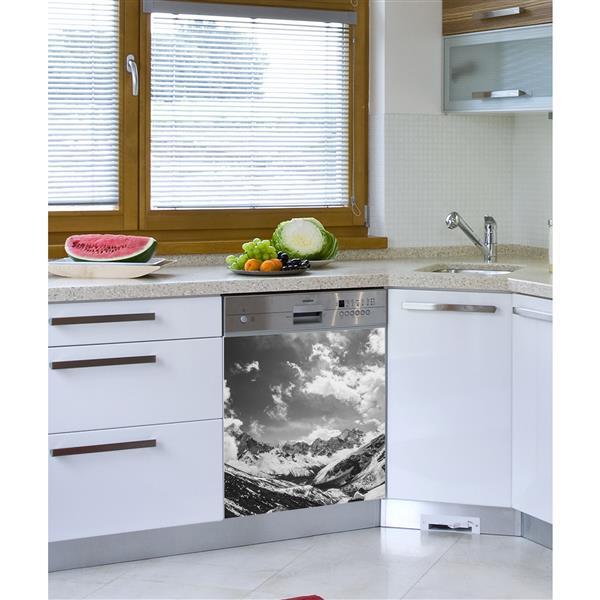ADzif Decal for Dishwasher - Monochrome Himalayas