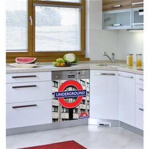 Appliqué autocollant pour lave-vaisselle, Londres