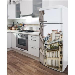 Appliqué autocollant pour réfrigérateur, 5e arrondissement