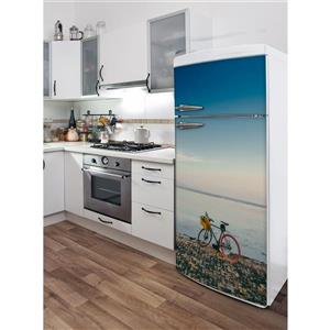 Bali Ride 30- in x 70- in Peal and Stick Decal for Refrigerator