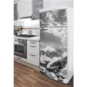 Decal for Refrigerators - Monochrome Himalayas