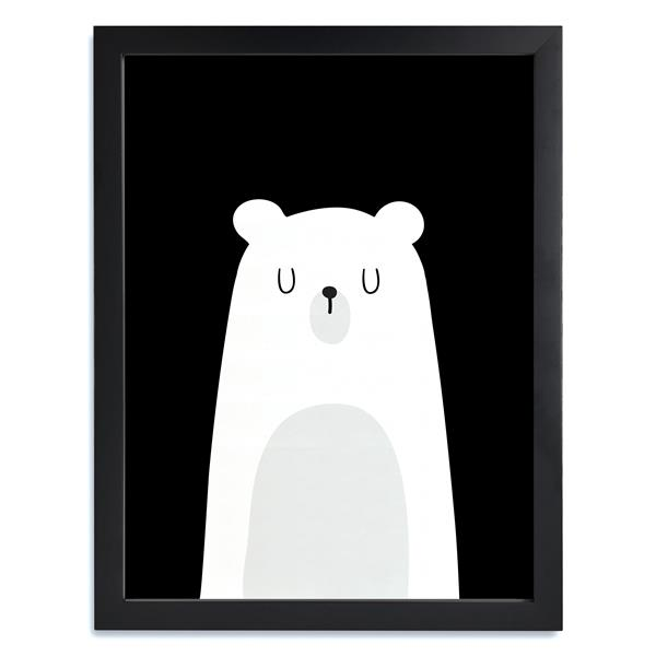 ADzif Framed Black and White Pooh Print 12-in x 15-in
