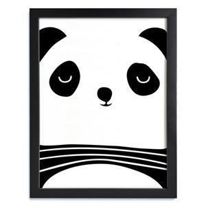 ADzif Framed Black and White Panda Print 12-in x 15-in