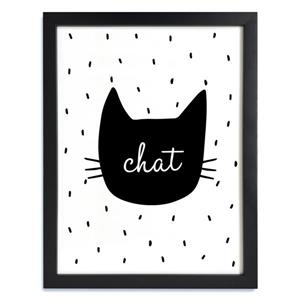 Framed Black and White Chat Print 12-in x 15-in