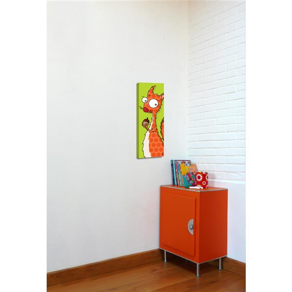 ADzif Squirel Art for Kids 8-in x 24-in Canvas Wall Art