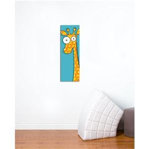 """Tableau d'art pour enfants, girafe, 8"""" x 24"""""""