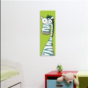 Zebra Art for Kids Canvas Wall Art 8-in x 24-in