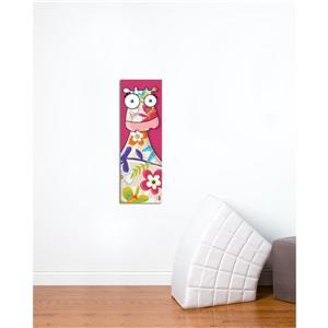 """Tableau d'art pour enfants, vache, 8"""" x 24"""""""