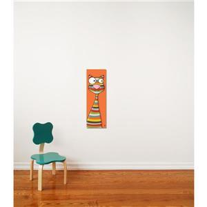 """Tableau d'art pour enfants, chat, 8"""" x 24"""""""