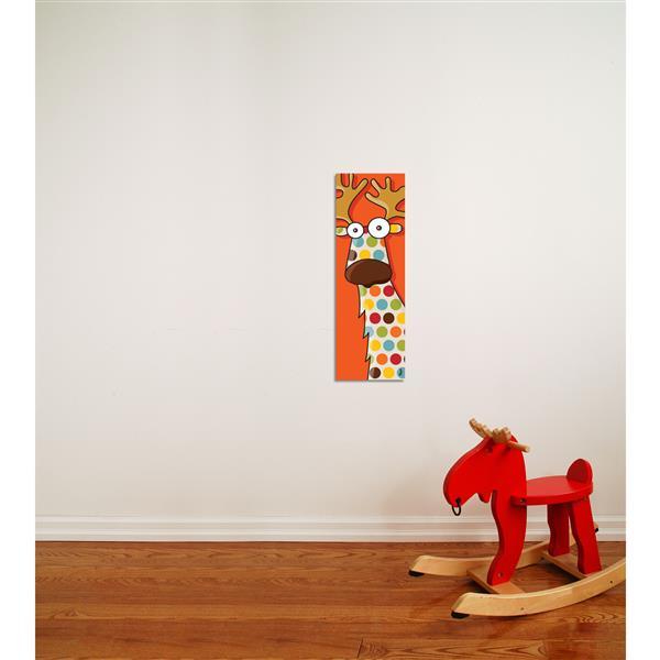 """Tableau d'art pour enfants, renne, 8"""" x 24"""""""
