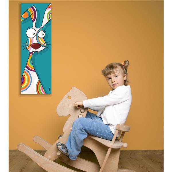 ADzif Rabbit Art for Kids 8-in x 24-in Canvas Wall Art