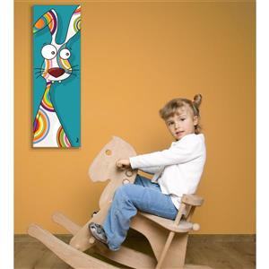 Rabbit Art for Kids 8-in x 24-in Canvas Wall Art