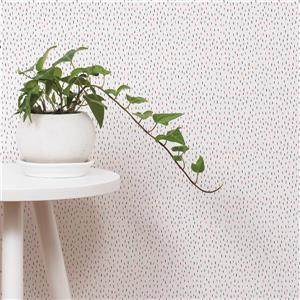 ADzif Cactus 8 sq ft Pink/Dark Grey Adhesive Wallpaper