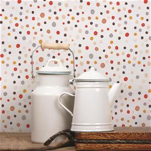 ADzif Mushroom 8 sq ft Multi Colour Adhesive Wallpaper