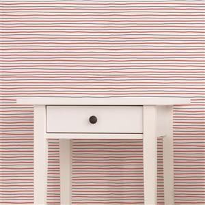 ADzif Fox Pattern 8 sq ft Dark Pink/Grey Adhesive Wallpaper
