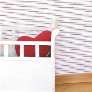 ADzif Shrimp Pattern 8 sq ft Light Pink/Grey Adhesive Wallpaper
