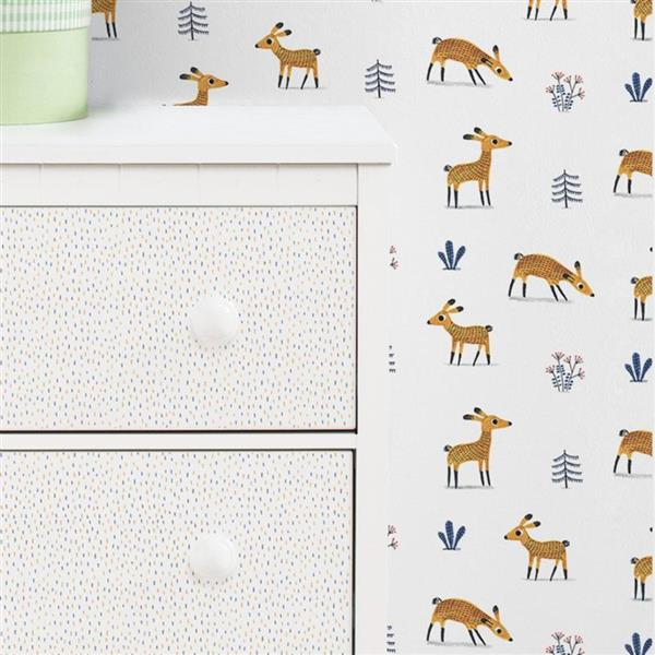 ADzif Fawns 8 sq ft Brown Adhesive Wallpaper